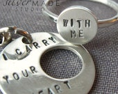 intertwine. sterling silver ring and keychain