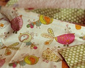 Double sided whimsical Birdie Bird and daisy Nursing Cover/Hooter Hider with adjustable strap