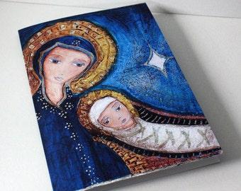 O Night Divine - Greeting Card 5 x 7 inches - Folk Art By FLOR LARIOS