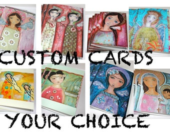 Your Choice - Pre- Order-  Fairies -  Mermaids - Fridas - Greeting - Holiday - Cards - Folk Art By FLOR LARIOS