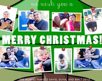 Photo Ornaments Holiday Card DIY Printable OR Printed Card