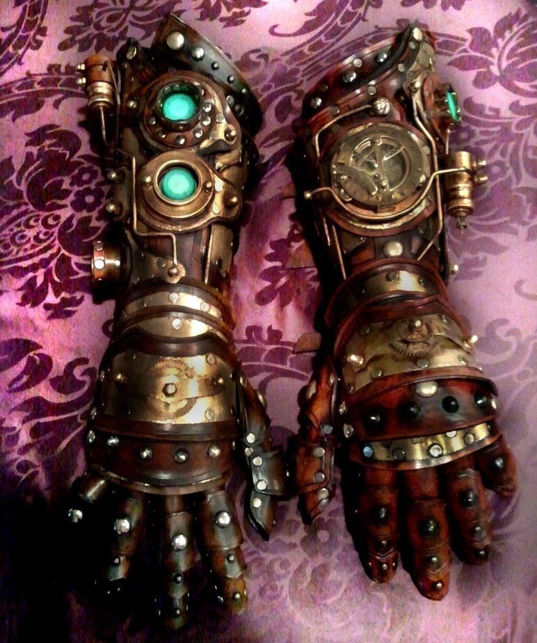 Hand Electric Iron Made In 2000 ~ Steampunk gauntlet bracer glove