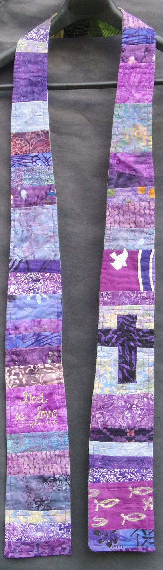 Green/Purple  Reversible Ministerial Clergy Stole