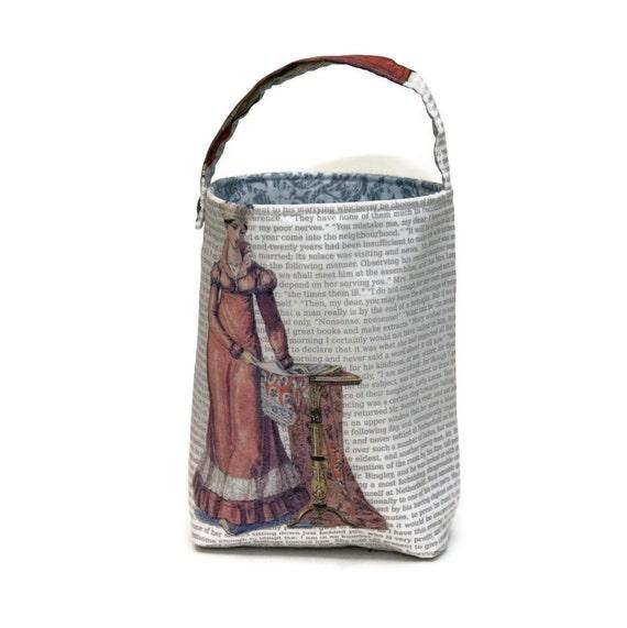Stitched by JessaLu Bucket Bag - Jane Austen - Pride & Prejudice