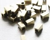 30pcs Antique Brass Tone Base Metal Spacers-Tube 10x5.5mm (457X-E-360)