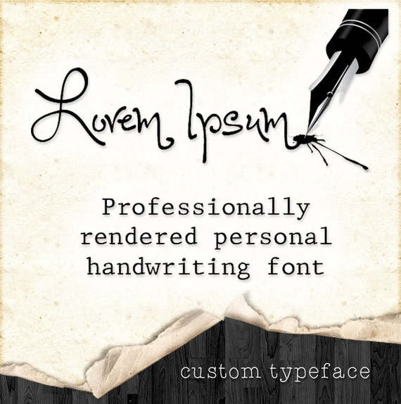 Your own personal handwriting font