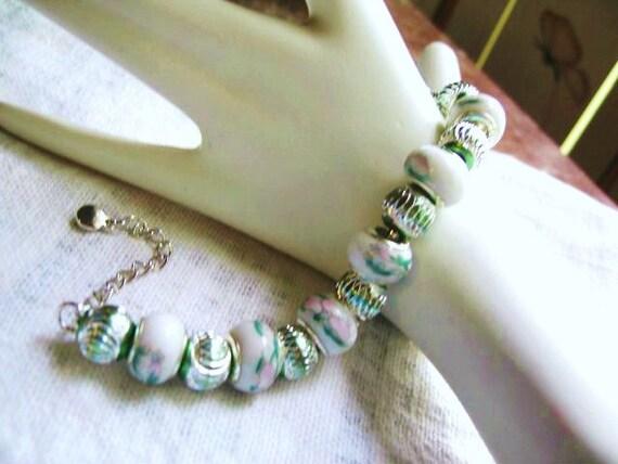 Prince Charming Bracelet ... a bracelet with large holed beads ...  No. 4