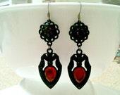 red dagger - earrings