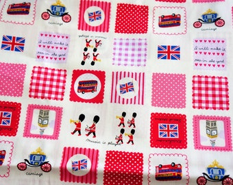 Japanese Fabric London theme Half meter  nc54