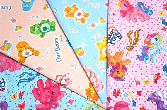 Care bear and my little pony fabric scrap