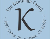 The Kauffman Family Custom Return Address Self Inking Stamp Design R400-003