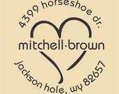 Mitchell-Brown Custom Return Address Design R046
