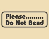 Please Mister Postman Do Not Bend My Package Traditional Rubber Stamp Design RTS 001