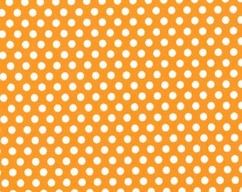 Fat Quarter - Kiss Dot Fabric Orange by Michael Miller Fabrics CX5518-ORAN-D