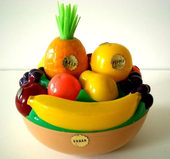 Vintage Salt and Pepper and Sugar Fruit Bowl by Starke Design Inc.