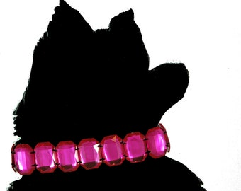 "16"" Hot Pink Dog Collar"