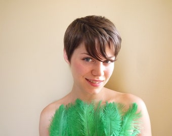 DELICATA OSTRICH PLUMES  , Emerald , Clover Green /  2009 / On Sale