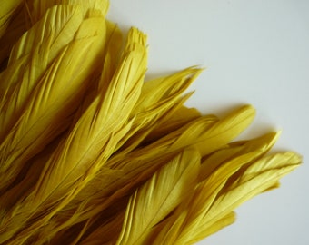 RUSTICA COQUE FEATHERS  / French Mustard Yellow   / 1312