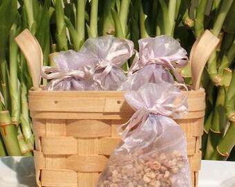 Lilacs in Bloom Handmade Sachet - floral, feminine,purple organza bag,phthalate free,potpourri, fragrance, aromatherapy,wedding,shower favor