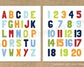 11x14 Bold and Modern Alphabet and Number Poster set