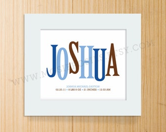 Personalized Name and Birth Announcement Print