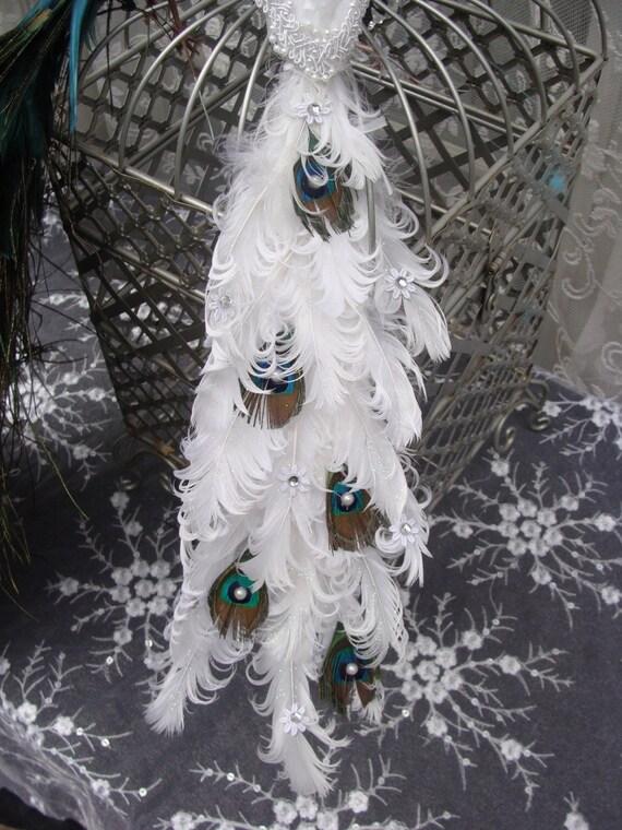 Peacock Lovebird Pair Decoration