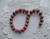 RHODONITE STONE Beads 8mm Rounds/PINK Stone Beads/8mm Beads