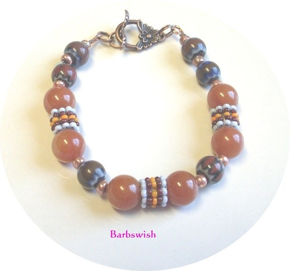 Handcrafted Beaded Bracelet  Fall Winter  Indian Style  ON SALE