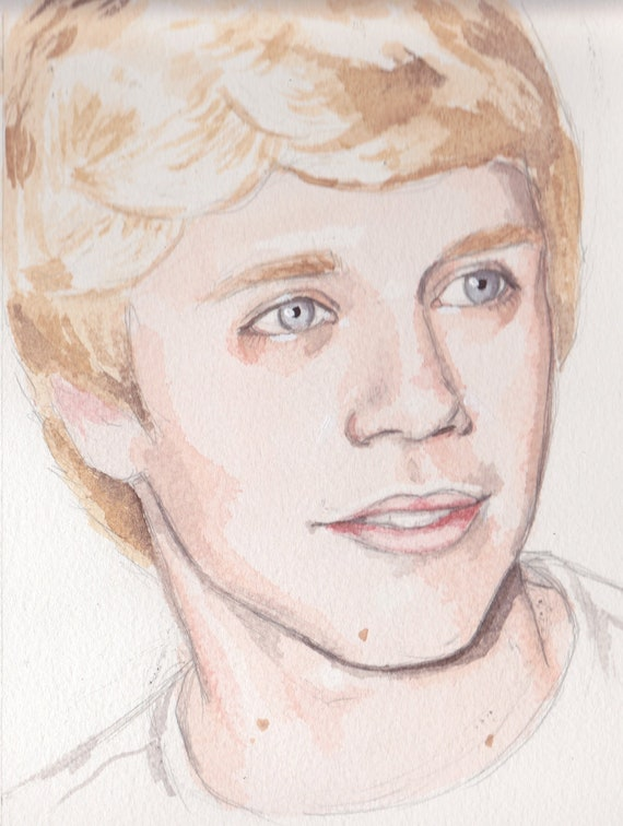 Original Watercolour Painting Niall Horan, One Direction