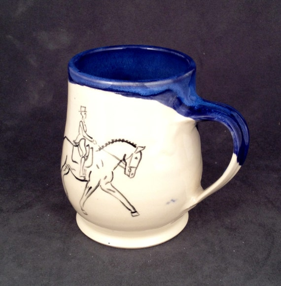 Dressage Horse Mug- Royal Blue