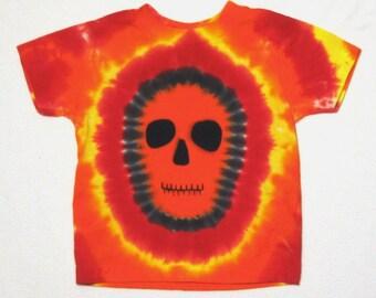 Halloween tie dye shirt - Tie Dye Shirt - Zombie tie dye, Size 2 t