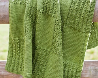 Snuggle Time Baby Blanket PDF Knitting Pattern