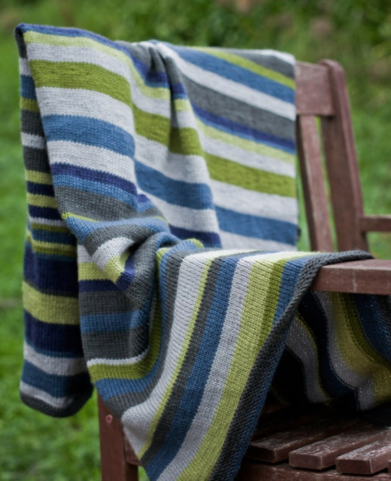 PDF Baby Knitting Pattern Striped Blanket by NaturalStar on Etsy