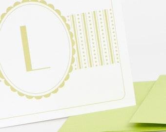 Geo Patterns Personalized Stationery (20) plus Matching Address Labels