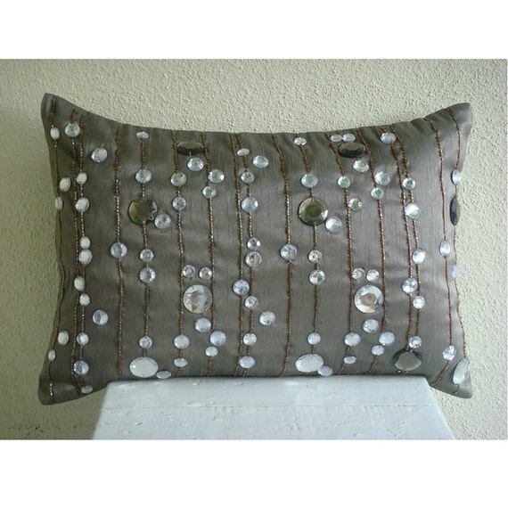 Diamond Dreams Oblong / Lumbar Throw Pillow by TheHomeCentric