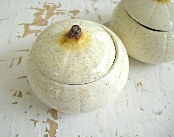 LAST SET AVAILABLE- Vintage Ceramic White Pumpkins For Fall Decorating- A Pretty Set of Three