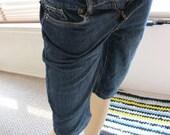 SALE - Upcycled Bitten Bermuda Jean Shorts - 2 Short (1406)