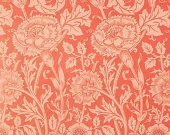 Pink and Rose by William Morris on mono deluxe Needlepoint Canvas