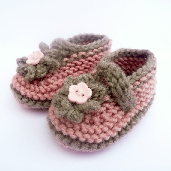 Knitting Patterns For Seamless Baby Booties : Knitting Pattern Baby Booties Simple Seamless Cute Classic