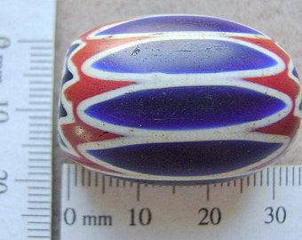 Bead,Trade, Chevron, HUGE, Ancient, 6 Layer,  African, Glass, Vintage, Murano