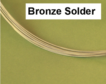 BRONZE Solder Wire by the foot Superior Bronze Color Match