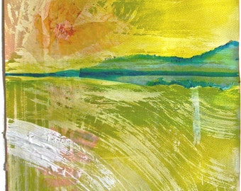 Collage 3- Thick Summer Sunset- by Gretchen Kelly