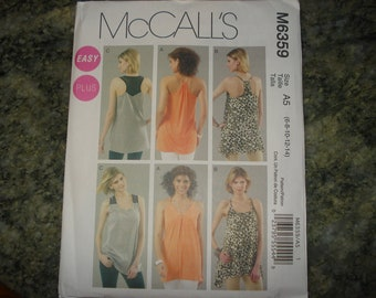 McCall's 6359 sleeveless tunic pattern