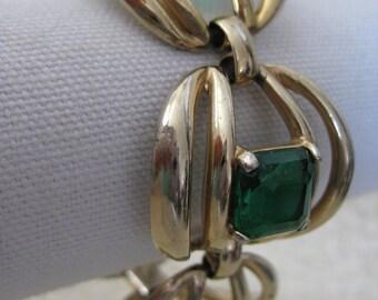Chunky Green Gold Bracelet Vintage