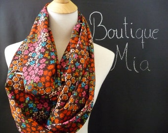 PERFECT GIFT - Infinity SCARF - Flower Power - Chiffon super Lightweight - by Boutique Mia