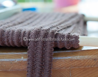 Fun Woven Brown - 3 yards Vintage Trim New Old Stock 60s 70s Edging Fringe