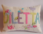 Custom made name cushion slip