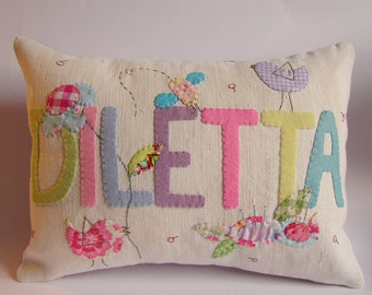 personalized name cushion slip MADE TO ORDER