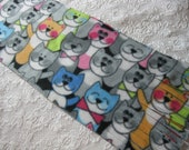 Five Buck Fleece Scarf Blow Out!  500+ Scarf Print Selection! Only at SylMarCreations!  Packed Puppies and Kitties Winter Fleece Scarf