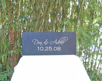 Ceremony Wedding or Anniversary Time Capsule Wine Box - In Black Small One Color